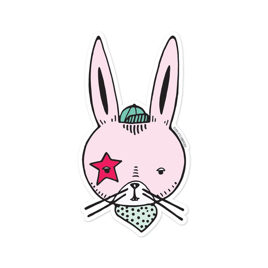 Image of Bunny Rocker Sticker