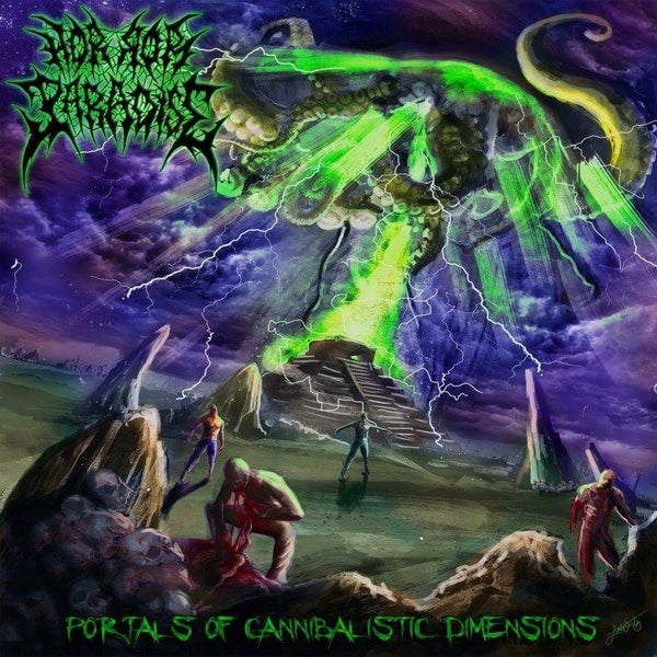 Image of HORROR PARADISE (mex) Portals of Cannibalistic Dimensions [chaotic brutal records] $7.500