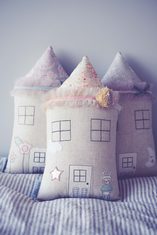 Image of PRE ORDER 'My bunny wears a cape' house cushion