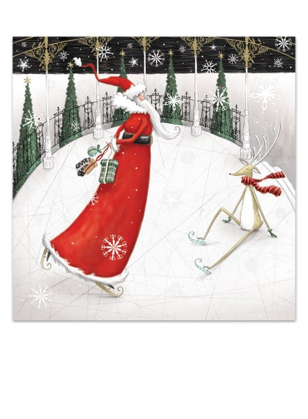 Image of Papa Noël's day on the ice, Christmas card