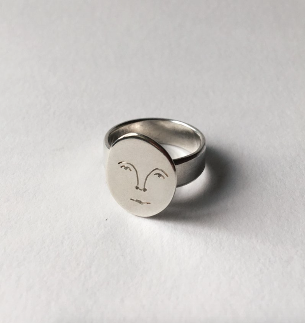 Image of moon face ring