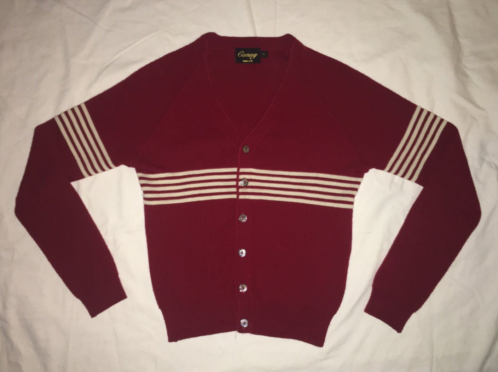 Image of Westside Conny Blood Red with White stripe - PRE ORDER