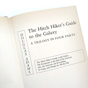 Image of Douglas Adams - The Hitch Hiker's Guide to the Galaxy: A Trilogy in Four Parts