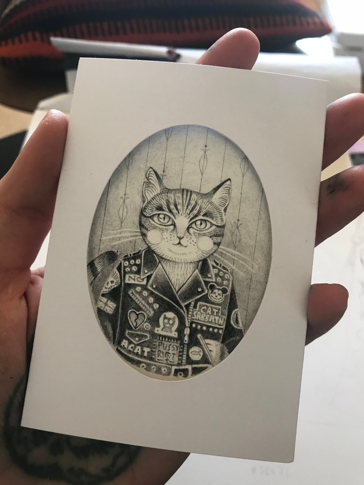 Image of BADASS CAT MINI GICLÉE PRINT