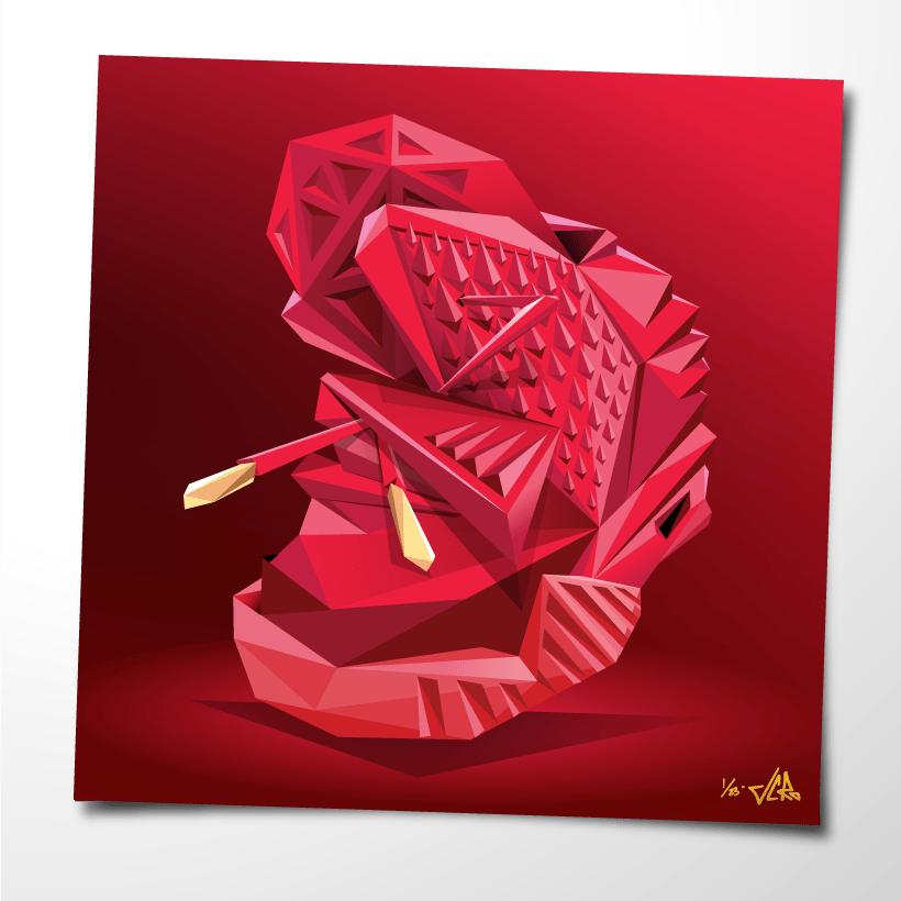 "Image of JCRo - Heat Rocktober - 20"" print"