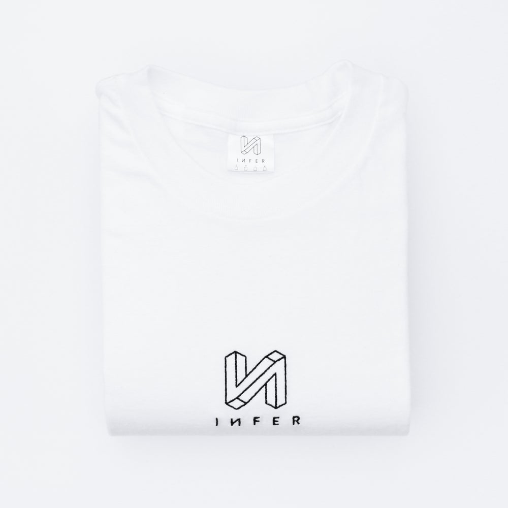 Image of 'Launch' Long Sleeve T-Shirt White