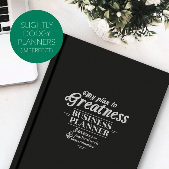 Image of IMPERFECT - My Plan to Greatness: Business Planner (BLACK)