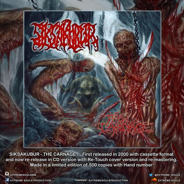 "Image of SIKSA KUBUR ""THE CARNAGE"" CD"