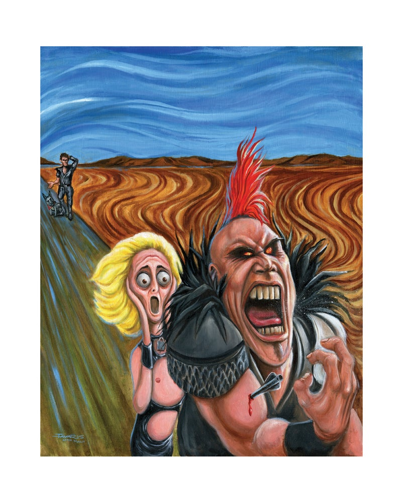 "Image of ""The Golden Scream"" (inspired by ""The Road Warrior"")"