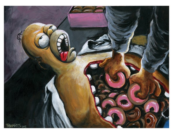 """Image of """"Some THING's wrong with Homer"""" Print"""
