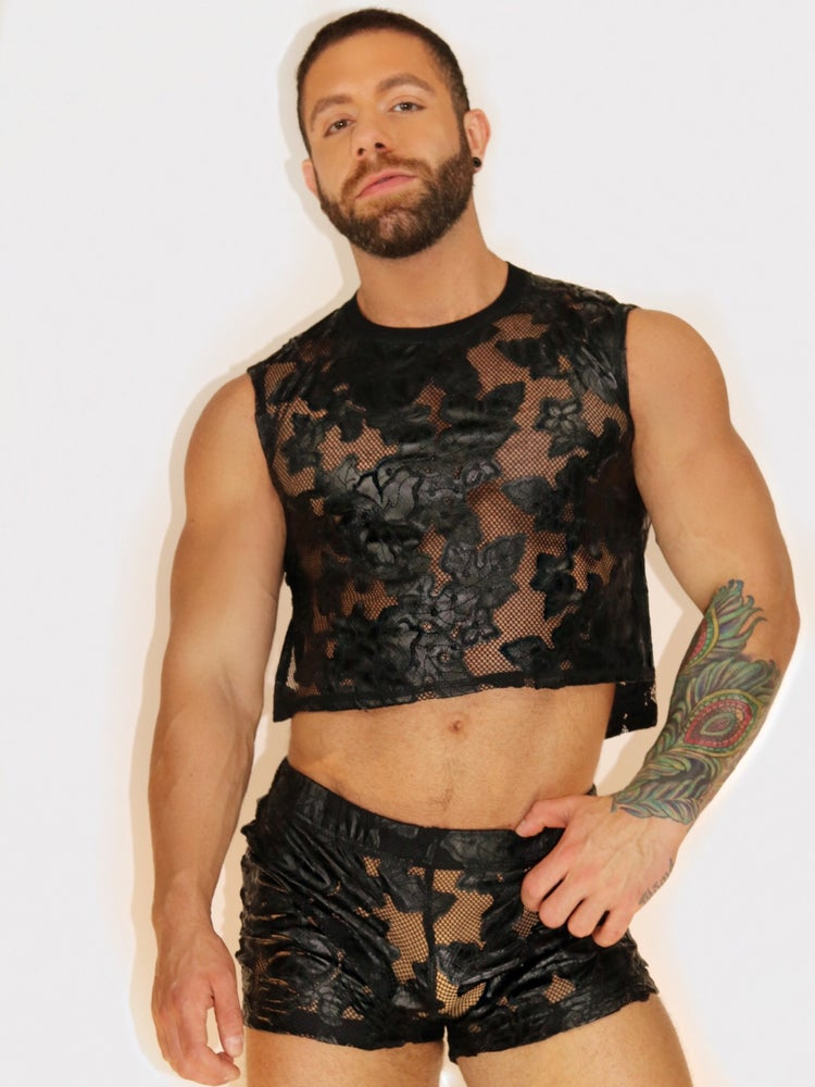 Image of FLORAL FETISH CROP TOP