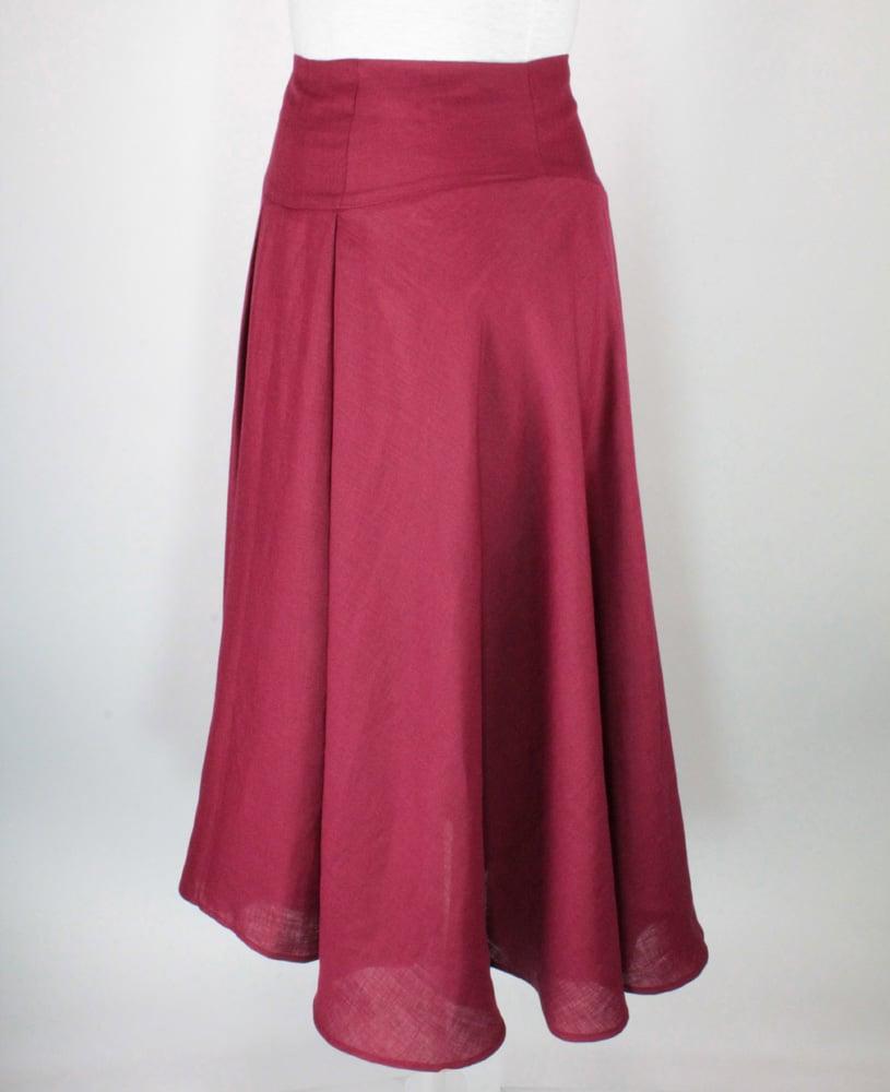 Image of LINEN High Waist Suzanna Skirt