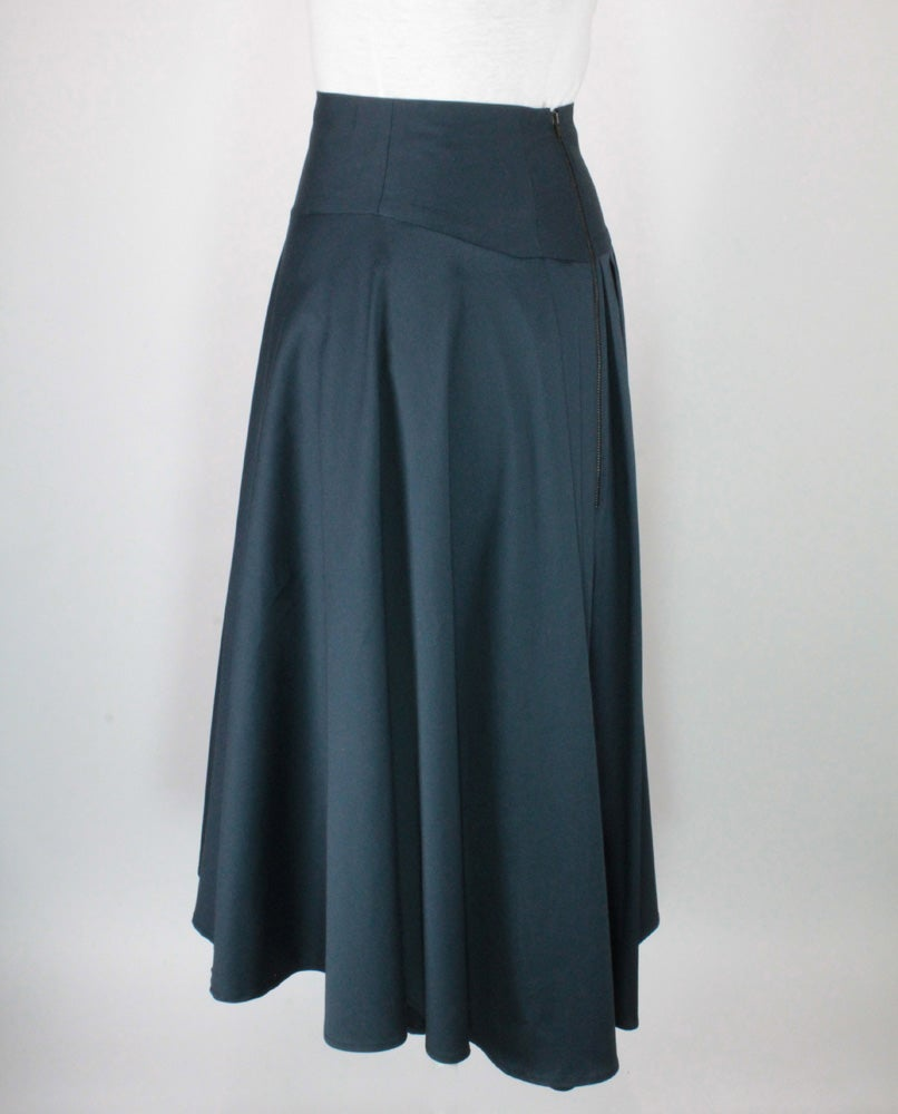 Image of POLISHED COTTON High Waist Suzanna Skirt