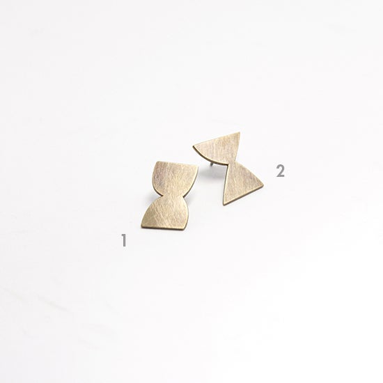 Image of HOUR GLASS EAR STUDS