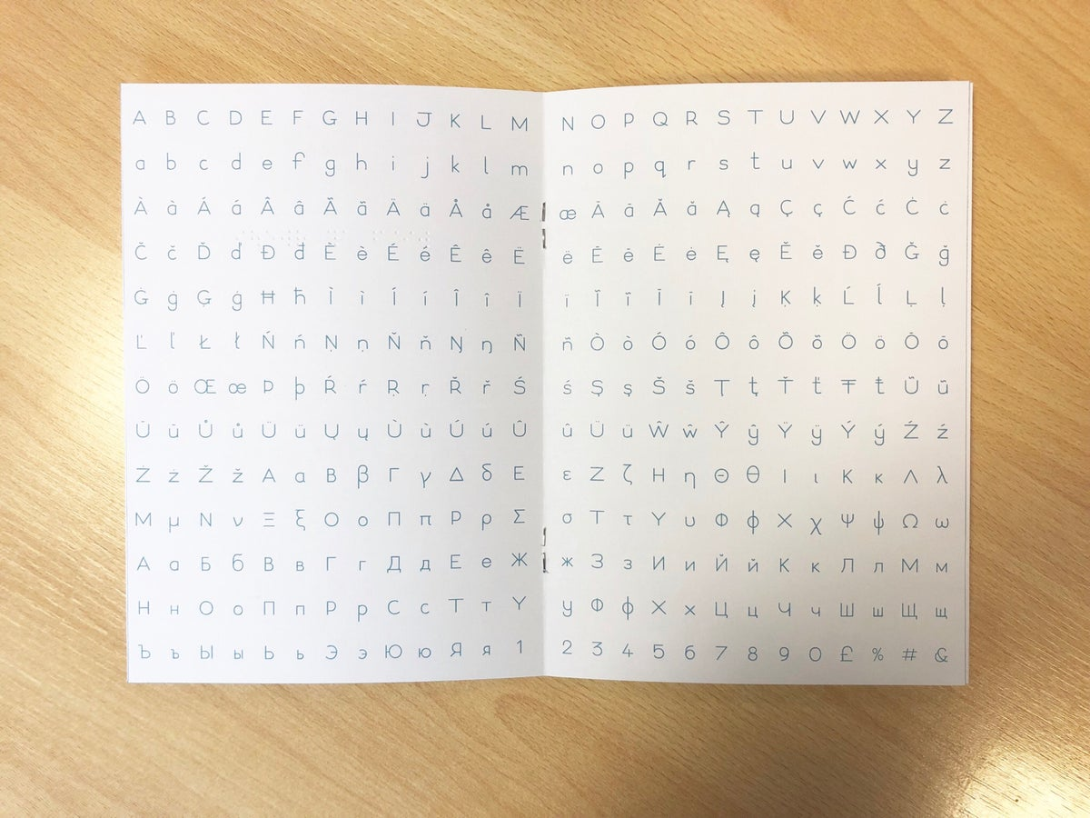Image of Type The Dots Specimen Book