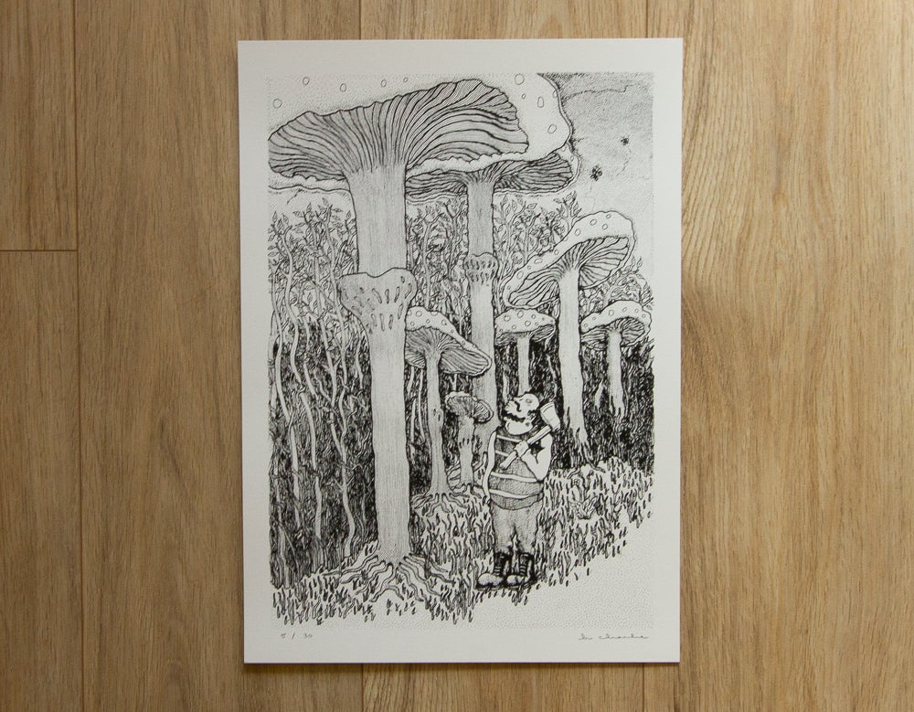 Image of 'Mushroomjack' Screen Print