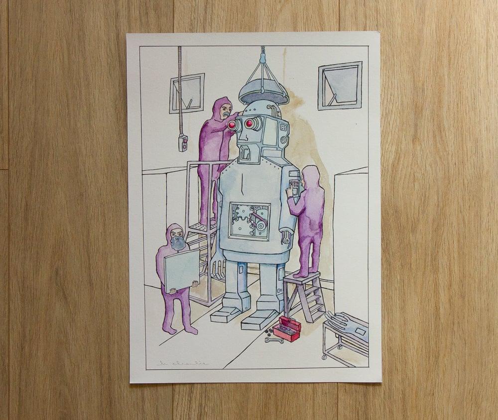 Image of 'Robot Wrokshop' Giclee Print