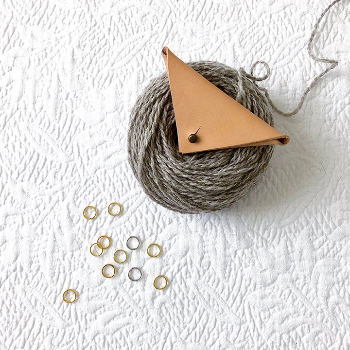 Image of Leather stitch marker pouch