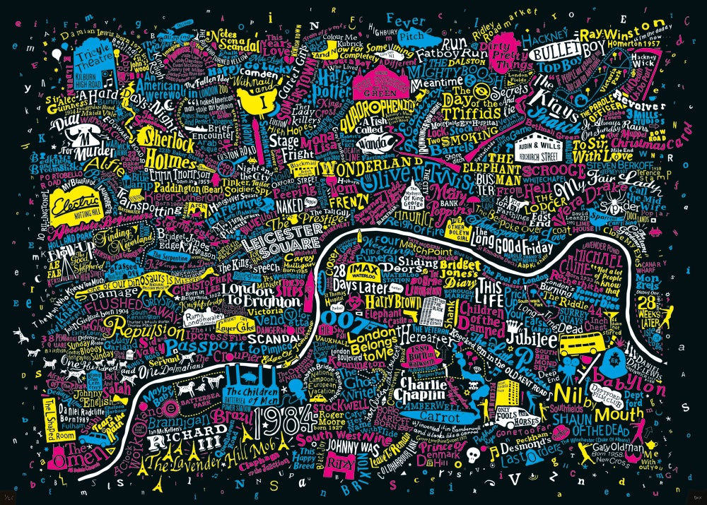 Image of London Film Map (CMYK, 2018)