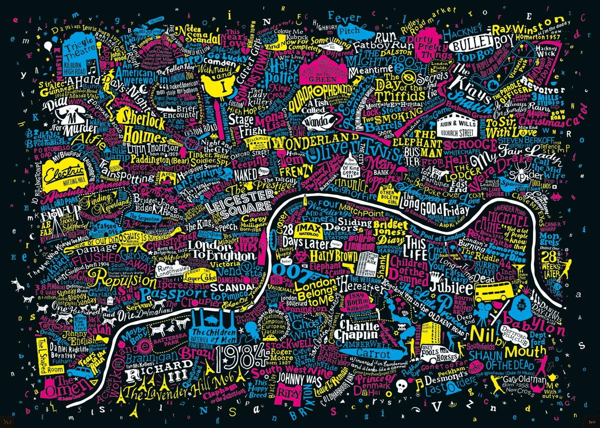 Image of London Film Map (CMYK)