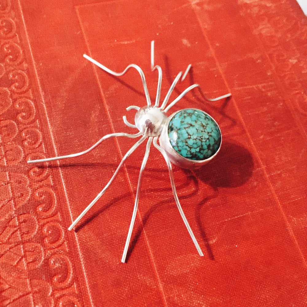 Image of Sterling Silver Spider Brooch