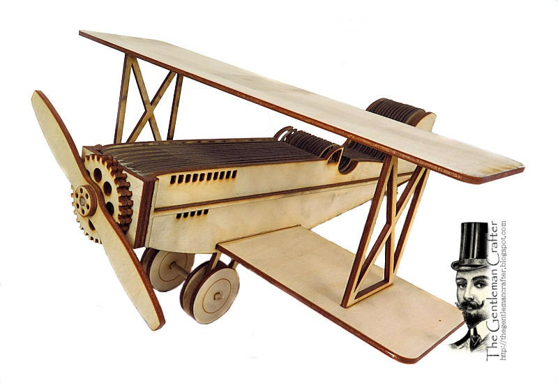 Image of New!!  Vintage Bi-Plane with Accordion Mini