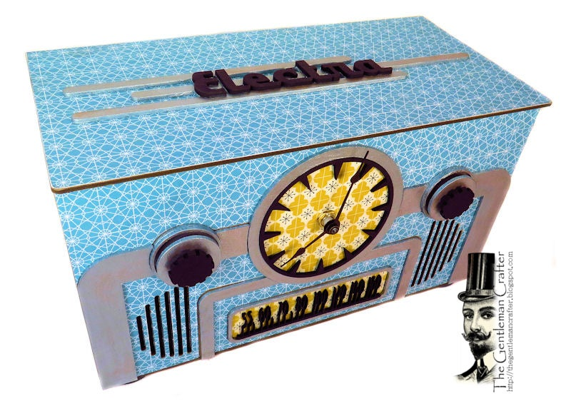 Image of Retro Radio Clock- Phone Charger/Storage Box Kit