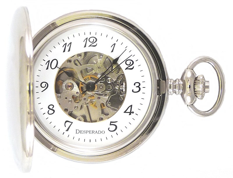 "Image of Desperado 728W ""Dodge City"" Wind Up Mechanical Pocket Watch"