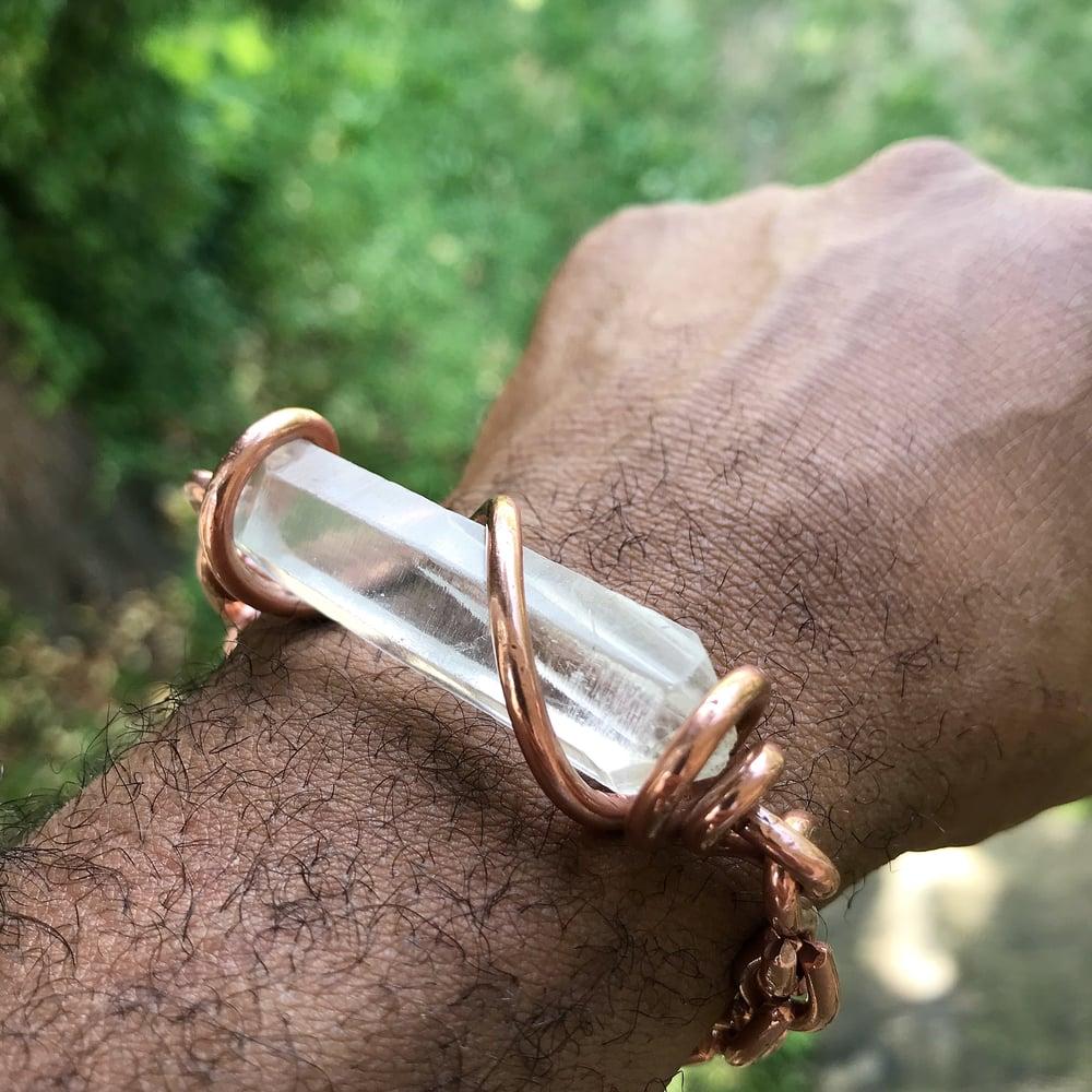 Image of Quartz Set Crystal Bracelet