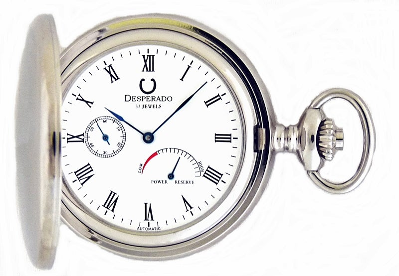 Image of Desperado 530W 33 Jewel Automatic Mechanical Pocket Watch with Power Reserve Indicator