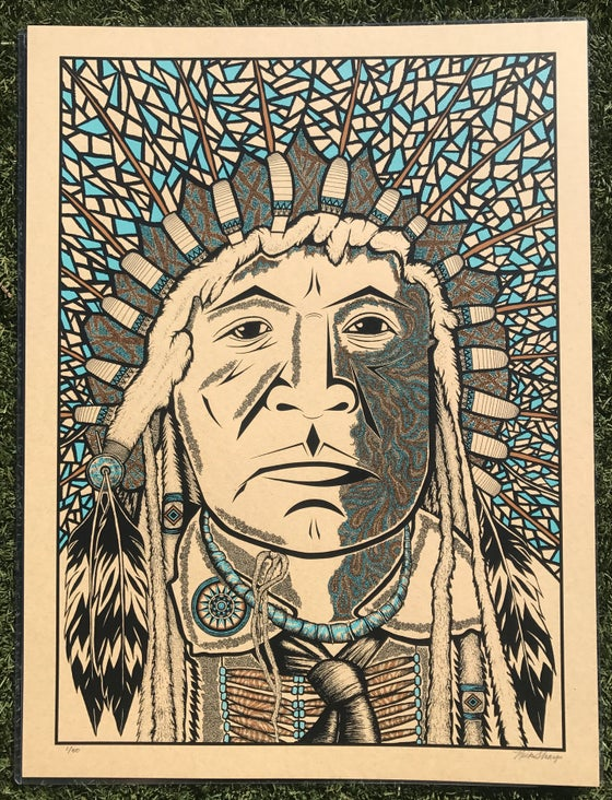"Image of ""The Chief""  3-Color Variant of 50"