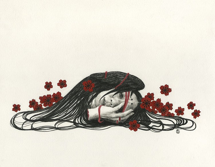 Image of Stephanie Inagaki 'In a Warm Cold Place' original art