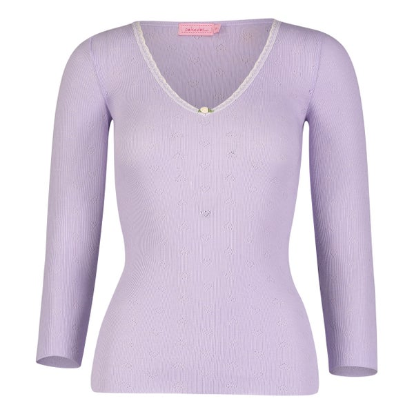 Image of Lavender V neck top