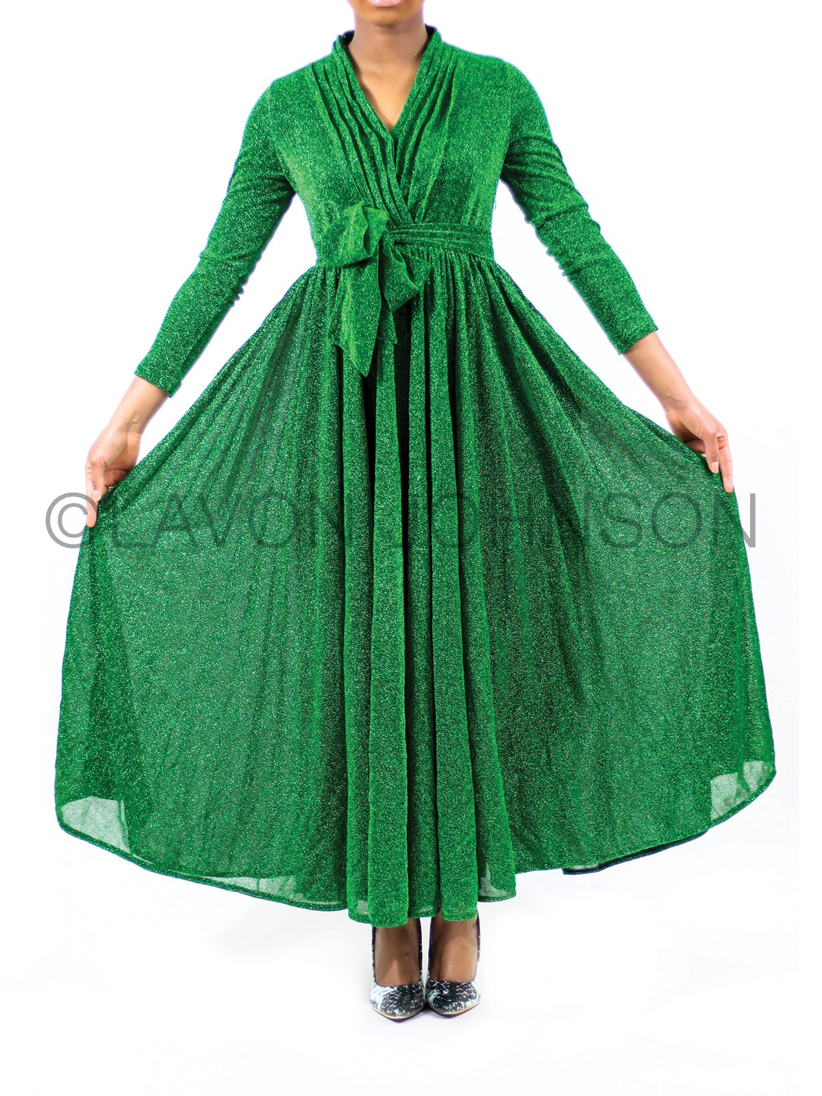 Image of Pleated Queen Dress