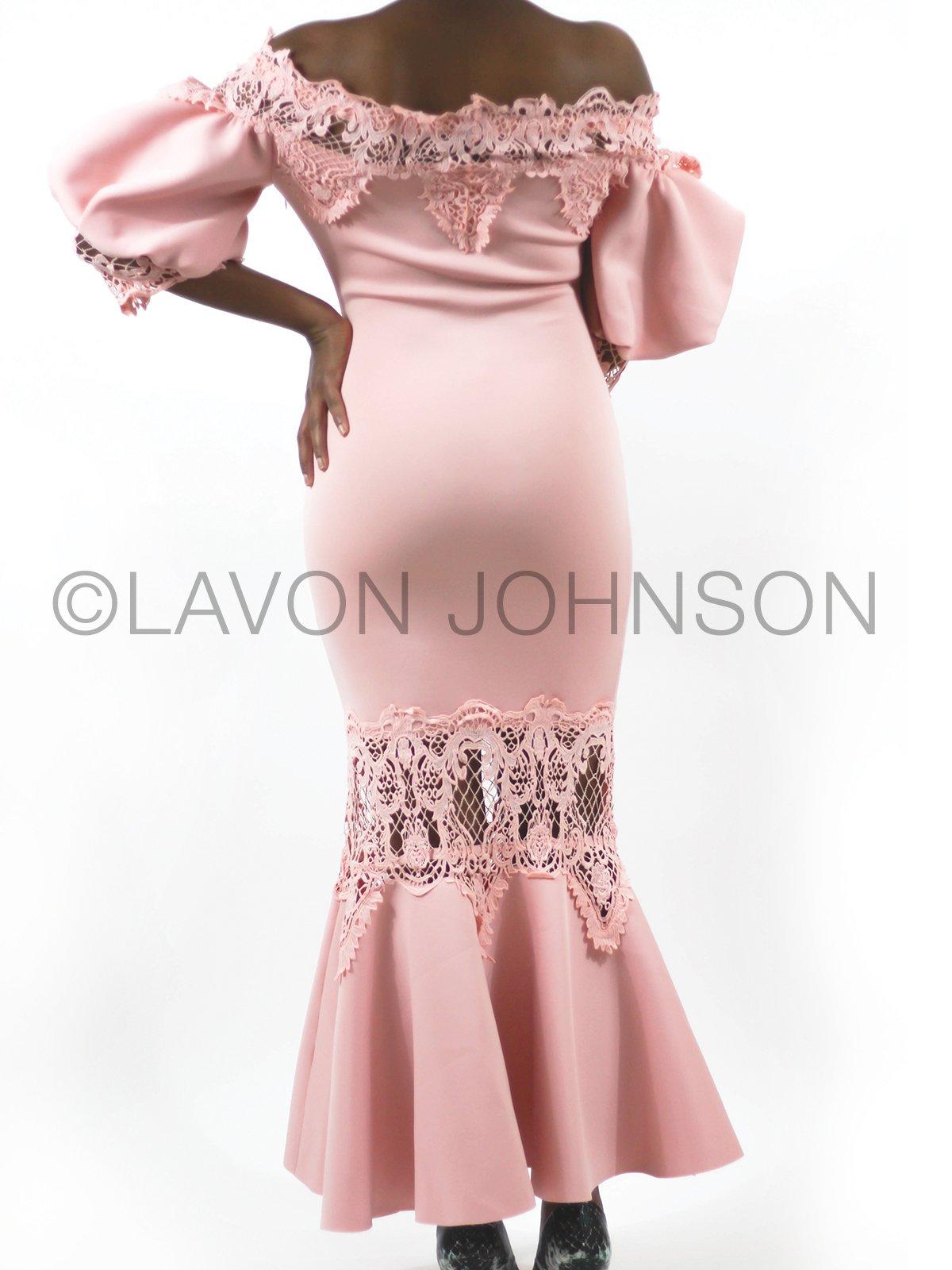 Image of Flare Sleeve Lace Dress