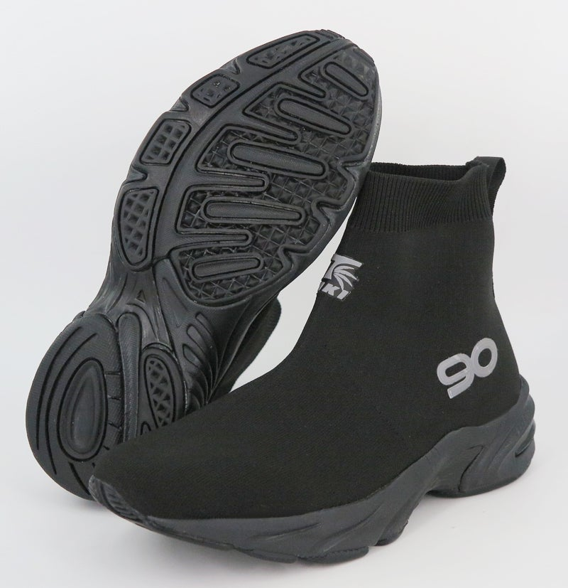 "Image of Tiki WaveRunner 90 Hybrid Sock Trainer ""Triple Black"" (Pre-Sale)"