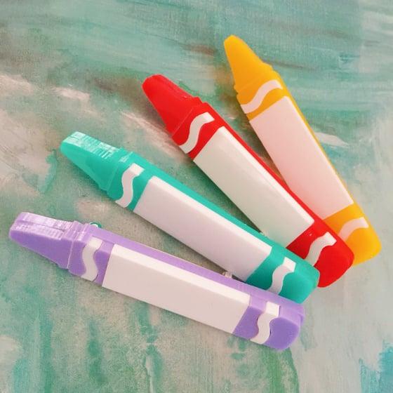 Image of Crayon Brooch (4 COLOURWAYS)
