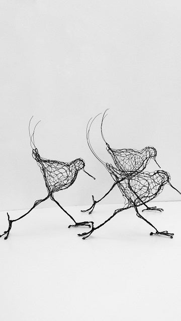 Wire Sanderling Sculptures