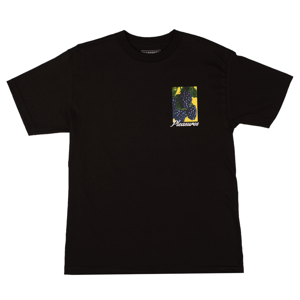Image of PLEASURES - BERRIES T-SHIRT (BLACK)