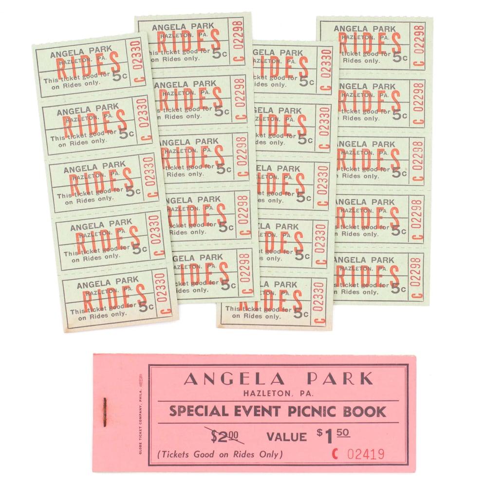 "Image of Vintage ""Angela Park"" Amusement Park Ticket Booklet"