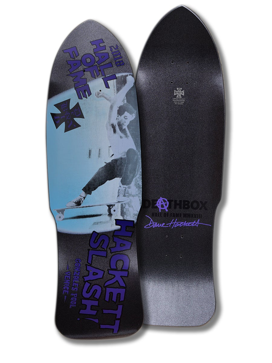 Image of DAVE HACKETT SLASH/SKATEBOARD HALL OF FAME PACKAGE
