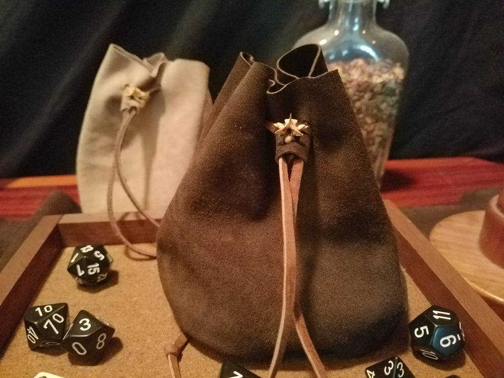 Image of Goat Suede Dice Bag (Walnut)