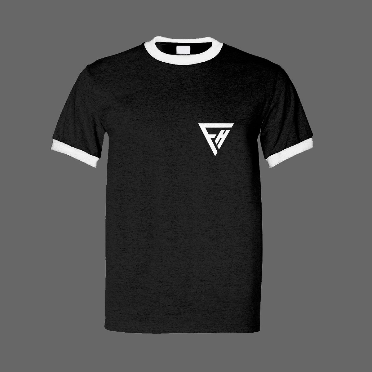 Image of FALSE HEADS black logo tee