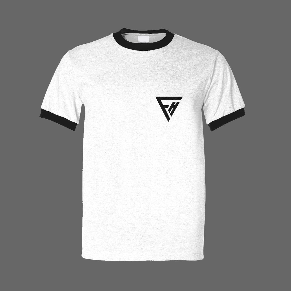 Image of FALSE HEADS white logo tee