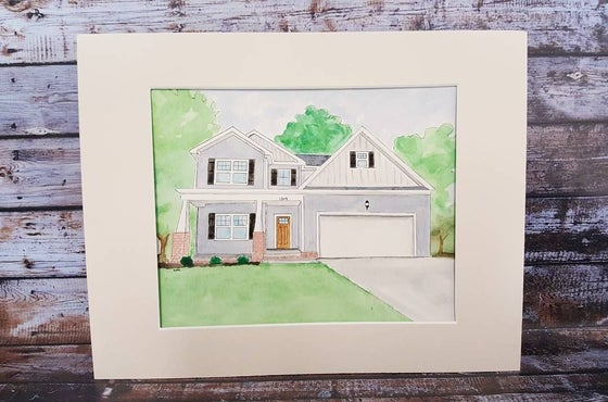Image of Custom Watercolor House Painting