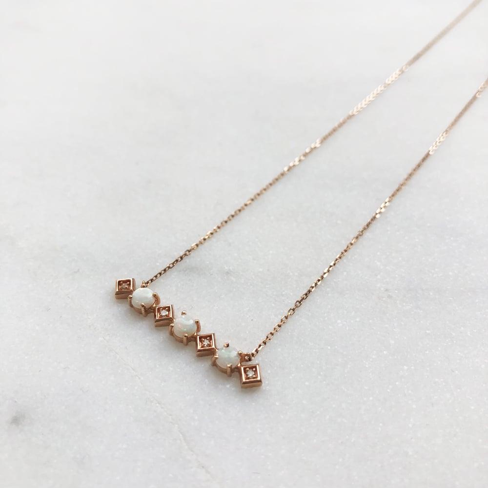 Image of Sparkling Opal Bar Necklace