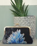 Image of Blue flower silk bag