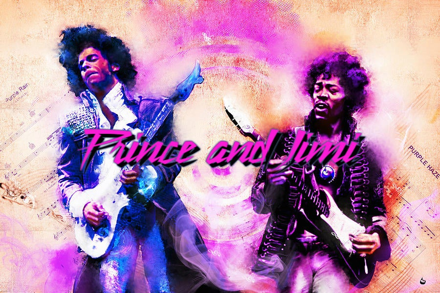 Image of Prince and Jimi 4 Ladies