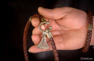 Image of VIKING AXE - Leather Necklace