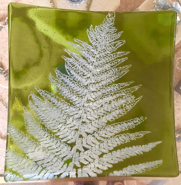 Image of Kiku Fern Plate by Laurie Freivogel